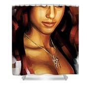 Alicia Keys Artwork 1 Shower Curtain