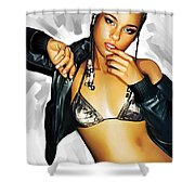 Alicia Keys Artwork 2 Shower Curtain by Sheraz A
