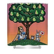 Alicia Time For Love Shower Curtain