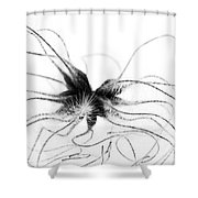 Alien Shower Curtain by Anne Gilbert