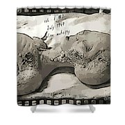 Alien Art Shower Curtain