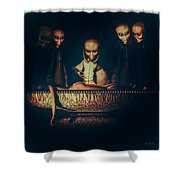 Alien Autopsy Alien Abduction Shower Curtain