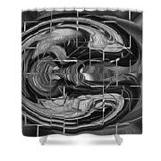 Alien Brain Shower Curtain