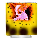 Alien Chihuahua Shower Curtain
