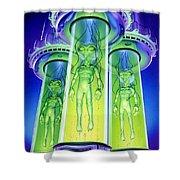 Alien Experiment Shower Curtain by Steve Read