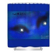 Alien Eyes 2 Shower Curtain
