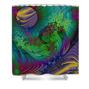 Alien Flora / Worlds Away Shower Curtain