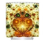 Alien Garden Shower Curtain