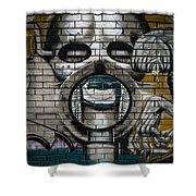 Alien Graffiti Shower Curtain