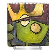 Alien King Shower Curtain