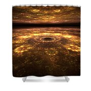 Alien Landscape Shower Curtain