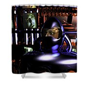 Alien Mind Control Shower Curtain