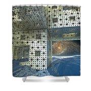 Alien Sea By Kc Shower Curtain
