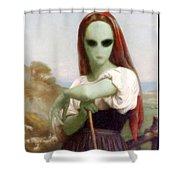 Alien Shepherdess Shower Curtain