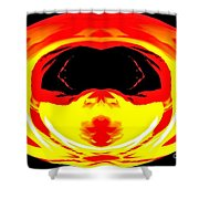 Alien Visitor Shower Curtain