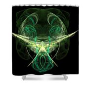 Alien With A Beard And Mustache Shower Curtain