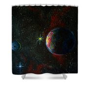 Alien Worlds Shower Curtain