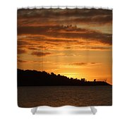 Alight With The Sun Shower Curtain