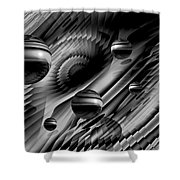Alignment Of The Planets Bw Shower Curtain