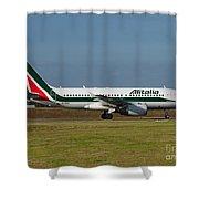 Alitalia Airbus A319 Shower Curtain