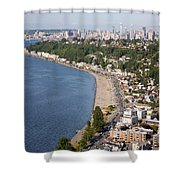 Alki Beach And Downtown Seattle Shower Curtain