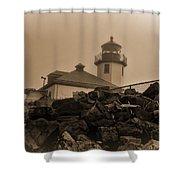 Alki Lighthouse Shower Curtain