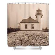 Alki Point Lighthouse Shower Curtain