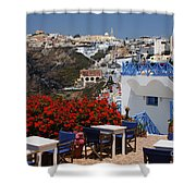 All About The Greek Lifestyle Shower Curtain