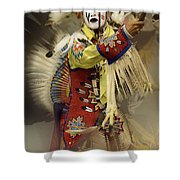 Pow Wow All About Time Shower Curtain