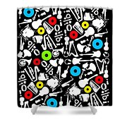 All Abut Music  Shower Curtain