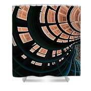 All Along The Watchtower Ix Shower Curtain