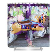 All American Pony Shower Curtain