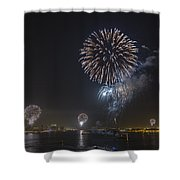 All At Once San Diego Fireworks Shower Curtain