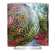 All Balled Up  Shower Curtain