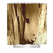All Caught Up Sepia Shower Curtain