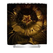 All Gold Shower Curtain