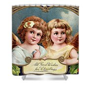 All Good Wishes For Christmas Shower Curtain