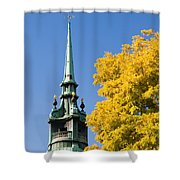 All Hallows By The Tower Shower Curtain