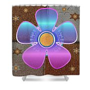 All In With Colors Shower Curtain