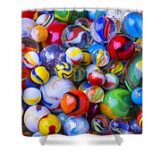All My Marbles Shower Curtain
