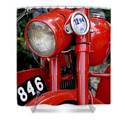 All Original English Motorcycle Shower Curtain