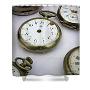 All Out Of Time Shower Curtain