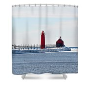 All Red Shower Curtain