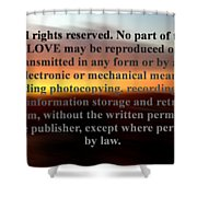 All Rights Reserved Shower Curtain