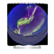All-sky Aurora In The Twilight Shower Curtain