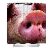 All Snout Shower Curtain
