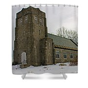 All Souls Chapel Poland Maine Shower Curtain