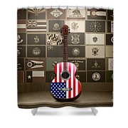 All State Flags - Retro Style Shower Curtain by Bedros Awak