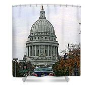 All Streets Lead To The Capital Shower Curtain