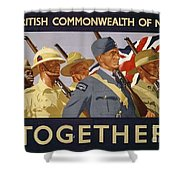 All The Commonwealth Countries Unite. Shower Curtain